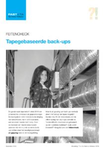 feitencheck tape gebaseerde back-ups